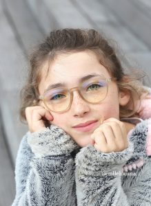 Lunettes MY LITTLE VINTAGE taupe MY BLUE PROTECT Louana 1 1