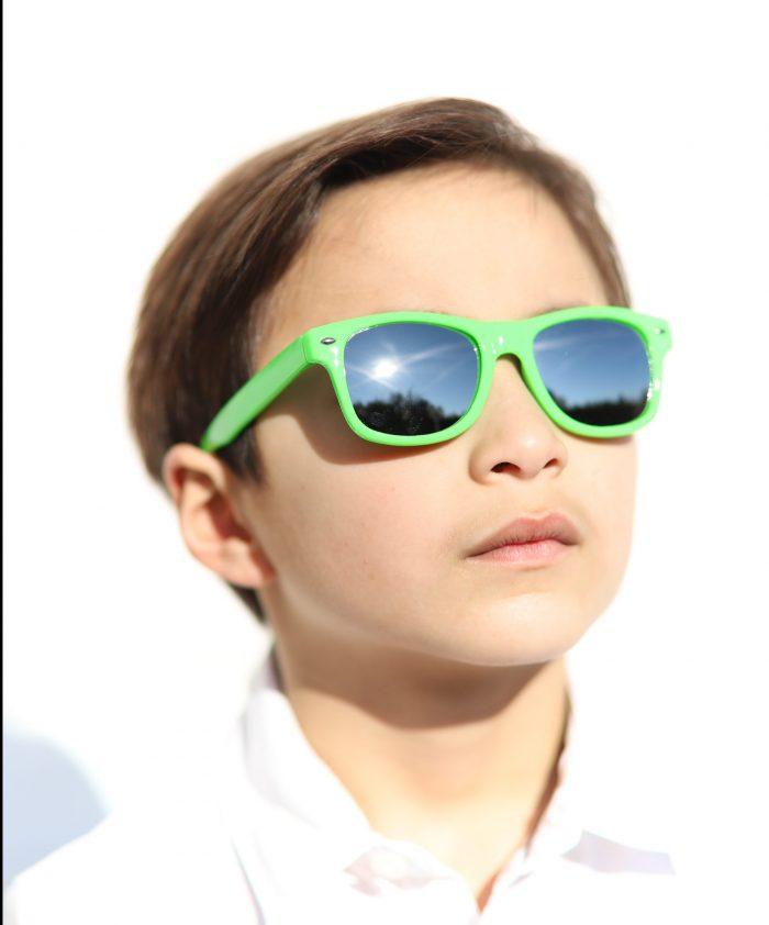 Lunettes solaire enfant MY BLUE POP S vert My Blue Protect