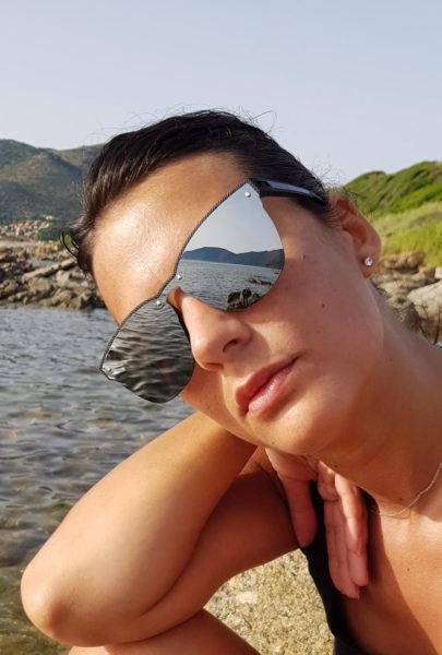 Lunettes de soleil MY SOLAIRE noir verres miroir Laura