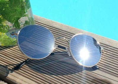 Lunettes de soleil Gold RETRO MY BLUE PROTECT